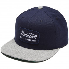 Brixton Jolt Snapback Hat - Navy/Heather Grey