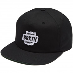 Brixton Garth Snapback Hat - Black/White