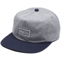 Brixton Rift MP Hat - Heather Grey/Navy