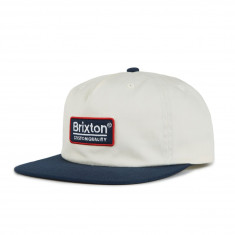 Brixton Palmer Mp Snapback Hat - Off White Navy 28b406d11c8f