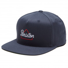 Brixton Newbury Snapback Hat - Navy 60838c4073be