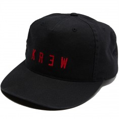 KR3W Locker Wash Snap Hat - Black/Red