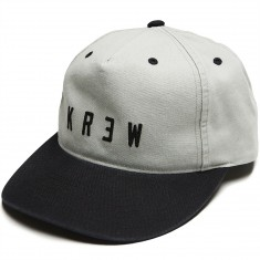 KR3W Locker Wash Snap Hat - Grey/Black