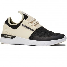 Supra Flow Run Shoes - Cream/Black/White