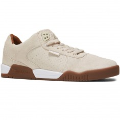 Supra Ellington Shoes - White Suede/Gum