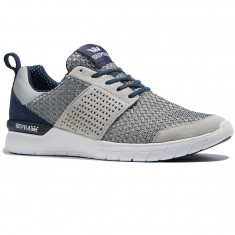 Supra Scissor Shoes - Light Grey/Navy/White