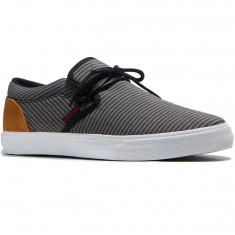 Supra Cuba Shoes - Black/Grey/White