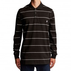 KR3W Fred Longsleeve Polo Shirt - Black