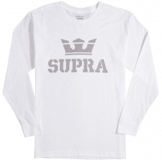 Supra Above Longsleeve T-Shirt - White/Silver