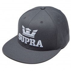 Supra Above Snap Hat - Charcoal/White/White