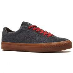 Converse One Star Pro Suede Shoes - Black/Casino/Gum