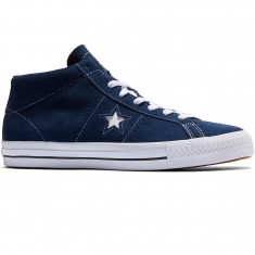 Converse One Star Pro Shoes - Navy/White/Black