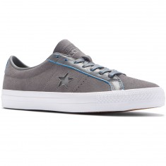 Converse One Star Pro Ox Shoes - Charcoal Grey/Soar White