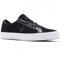 Converse One Star Pro Ox Shoes - Black/White/Black