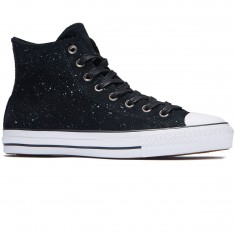Converse CTAS Pro HI Pepper Suede Shoes - Black/White/Black