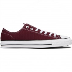 Converse CTAS Pro Shoes - Dark Sangria/White/White Canvas