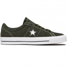 Converse One Star Pro Shoes - Sequoia/Sequoia/White Suede
