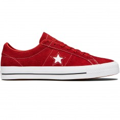 Converse One Star Pro Shoes - Terra Red/Terra Red Suede