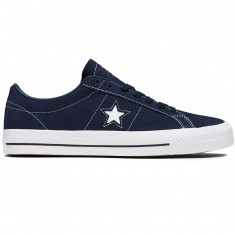 Converse One Star Pro Shoes - Obsidian/Obsidian/White Suede