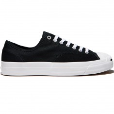 Converse Jack Purcell Pro Ox Shoes - Black/Black/White Canvas