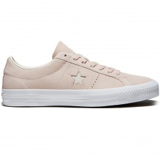 Converse One Star Pro Shoes - Dusk Pink/Egret/White Suede