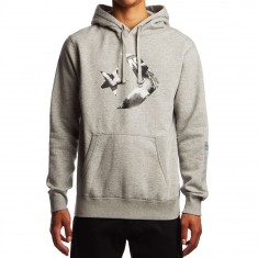 Converse Cons Star Chevron Logo Hoodie - Vintage Grey Heather