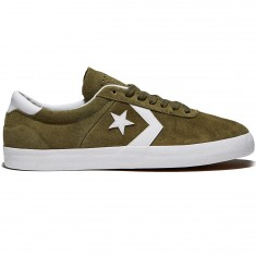 Converse Break Point Pro Low Shoes - Medium Olive/White Suede