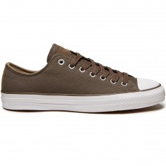Converse CTAS Pro Suede Backed Twill Shoes - Engine Smoke/Sandy/White