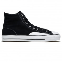 Converse CTAS Pro Hi Top Shoes - Black/Enamel Red/White