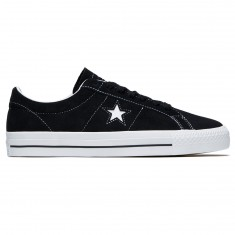 Converse One Star Pro Ox Shoes - Black/White/White