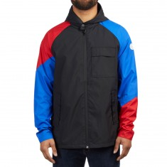 Converse Hunt Parka Jacket - Black/Hyper Royal/Enamel Red