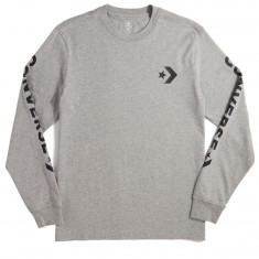 Converse Star Chevron Wordmark Long Sleeve T-Shirt - Vintage Grey Heather