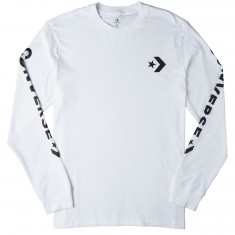 Converse Star Chevron Wordmark Long Sleeve T-Shirt - White