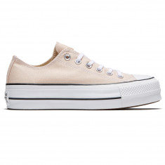 Converse Womens Chuck Taylor All Star Lift Shoes - Particle  Beige White Black 433fe826e