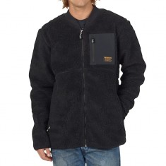 Burton Grove Full Zip Fleece Snowboard Jacket - True Black