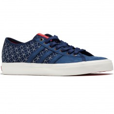 Adidas Matchcourt RX LTD Shoes - Indigo/Chalk White/Scarlet