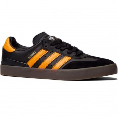 Adidas Busenitz Vulc Samba Edition Shoes - Black/Natural/Bright Orange