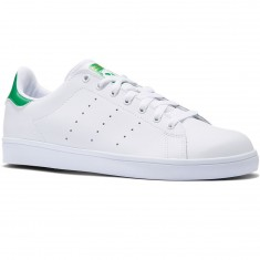Adidas Stan Smith Vulc Shoes - White/White/Green