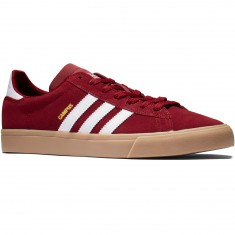 Adidas Campus Vulc II Shoes - Collegiate Burgundy/White/Gum