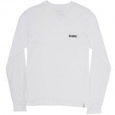 Altamont One Liner Embroidery Long Sleeve T-Shirt - White