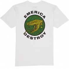 Emerica Snake and Destroy T-Shirt - White