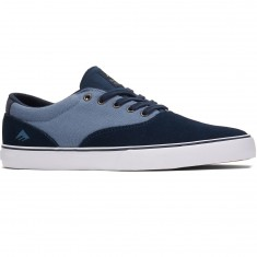 Emerica Provost Slim Vulc Shoes - Navy/Blue/White
