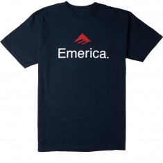 Emerica Skateboard Logo T-Shirt - Navy/Red