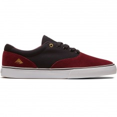 Emerica Provost Slim Vulc Shoes - Burgandy/Gold