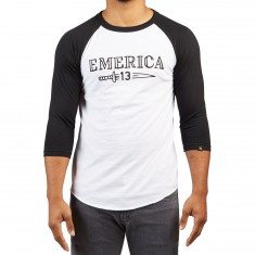 Emerica Lucky Number Raglan Shirt - Black/White