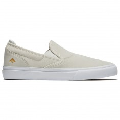 Emerica Wino G6 Slip On Shoes - White/White