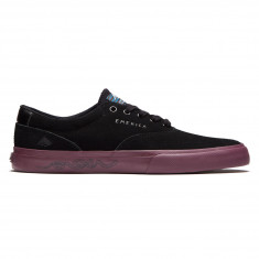 Emerica Provost Slim Vulc X Toy Machine Shoes - Black/Purple