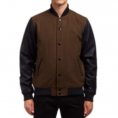 Obey Soto Collegiate Jacket - Dark Army