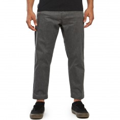 Obey Straggler Flooded Pants - Heather Grey