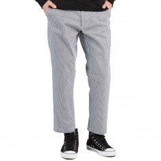 Obey Straggler Houndstooth Flooded Pants - White Multi